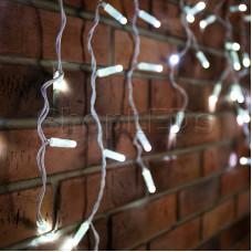Гирлянда Айсикл (бахрома) светодиодный, 1,8 х 0,5 м, белый провод, 220В, диоды белые