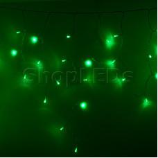 Гирлянда Айсикл (бахрома) светодиодный, 3,3 х 0,6 м, прозрачный провод, 220В, диоды зеленые NEON-NIGHT