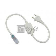 Шнур power cord для подключения светодиодных лент 3014 220V